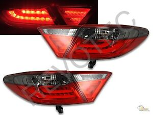 2015 2017 toyota camry 4dr sedan red smoke led tail lights