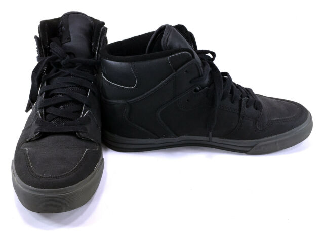 Supra Vaider Mens Black//White High Top Shoes Skate Sneakers Shoes Canvas