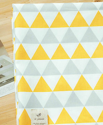 Yellow triangle 100% Cotton Fabric / All sizes/ Quilting fabric off cuts (fft196