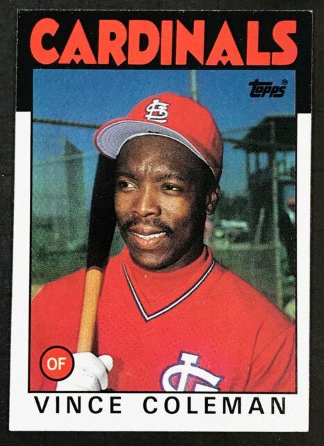 1986 Topps Baseball 370 Vince Coleman Rookie Card Cardinals
