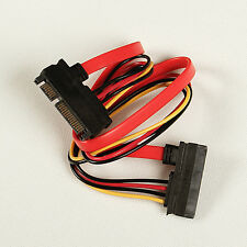 1pc 7+15 Pin Serial ATA SATA Data power combo extension Cable  Male to Female