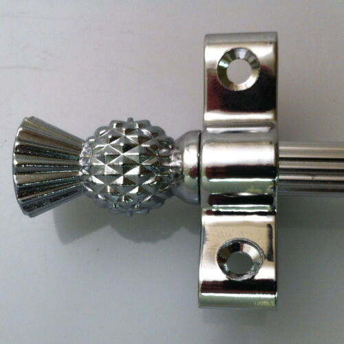 R03LRET 3//8 x 36 INCH POLISHED CHROME REED STAIR RODS THISTLE FINIAL