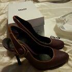 D&G dolce & gabbana scarpa shoes donna size 38 pelle leather viola violet