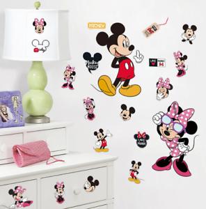 pegatinas de pared Dormitorio infantil de Mickey Minnie Mouse Wall Nursery para ni/ños