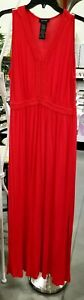Spense-Sleeveless-Braided-Neck-Maxi-Dress-Rich-Red-Women-039-s-Sz-L-EUC
