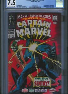 CGC-7-5-MARVEL-SUPER-HEROES-13-O-W-TO-WHITE-PAGES-1ST-CAROL-DANVERS-CAPTAIN-MAR