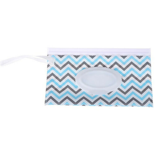Baby Wet Wipe Pouch Wipes Holder Tissue Case Reusable Refillable Wet Wipe Bag