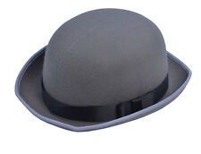 BH606 grey bowler hat derby Victorian fancydress costume accessory
