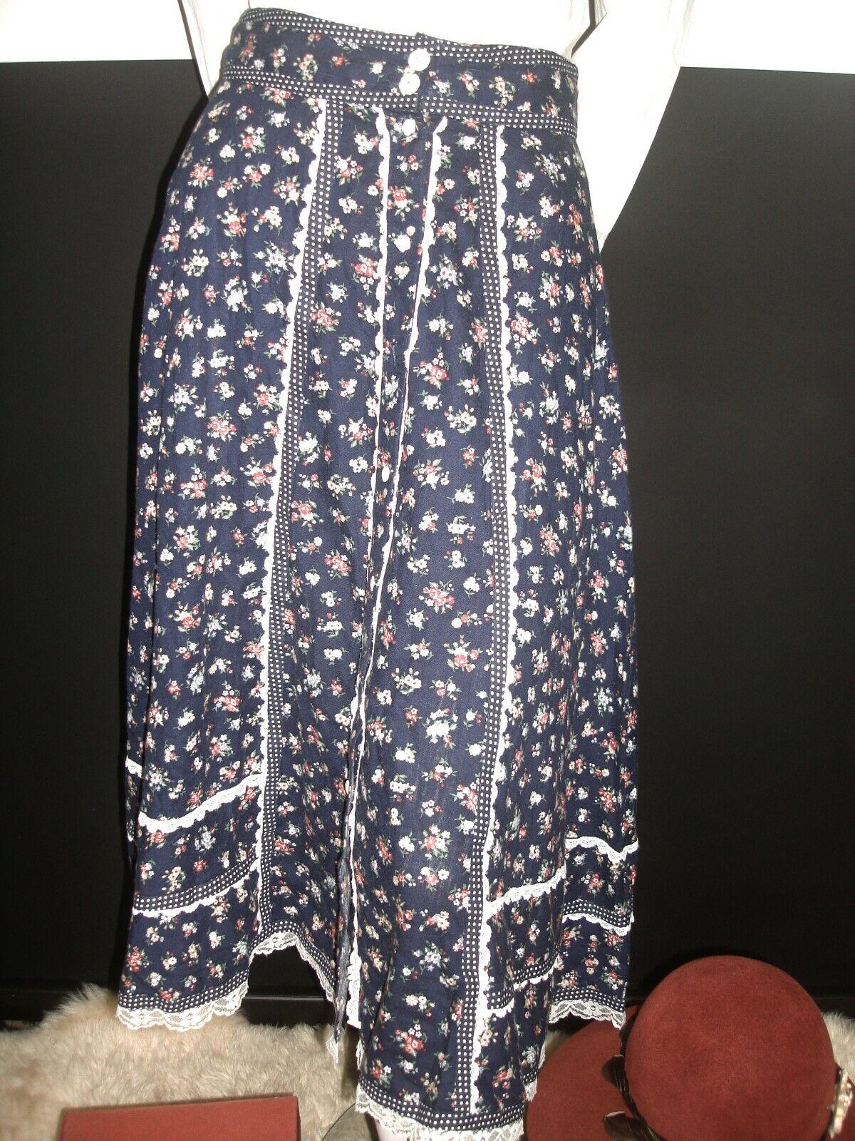 👒Vintage Gunne Sax Jessica's Gunnies Blue Floral… - image 9