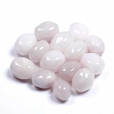 1/2 lb Bulk Natural Tumbled White Jade Stones Reiki Crystals Healing Free Pouch