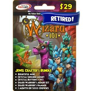 Details about New Wizard 101 Jewel Crafter's BUNDLE Game Card Crowns  Butterfly Pet