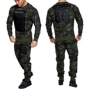 herren camouflage sportanzug jogginganzug trainingsanzug sporthose hoodie 1011 ebay. Black Bedroom Furniture Sets. Home Design Ideas