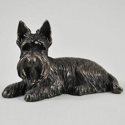 Bronze Effect Scottie Dog Terrier Sculpture Dogs Gifts Statue Sculpture Figure