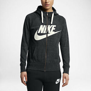 25c3c7bdd5dd Nike Sportswear Gym Vintage Women s Full-Zip Hoodie L Heather Gym ...