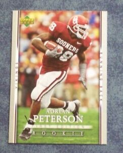 Details About 2007 Upper Deck First Edition Adrian Peterson Rookie Card 104