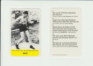 Boxing : Jack Dempsey : attractive German collector card
