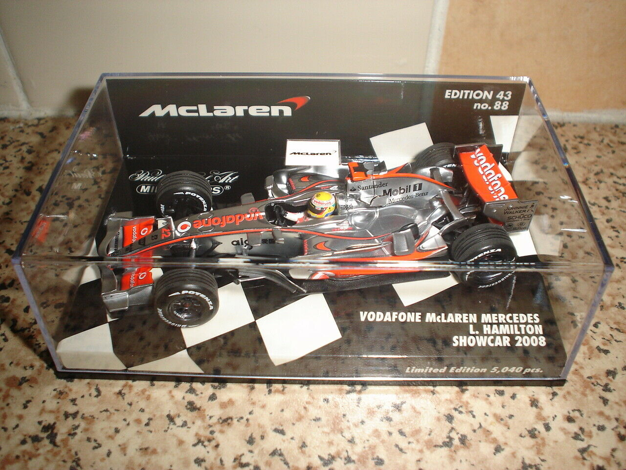 McLaren F1 L. Hamilton 2008 show car-Ltd. édition -1 43 - RARE & COLLECTION