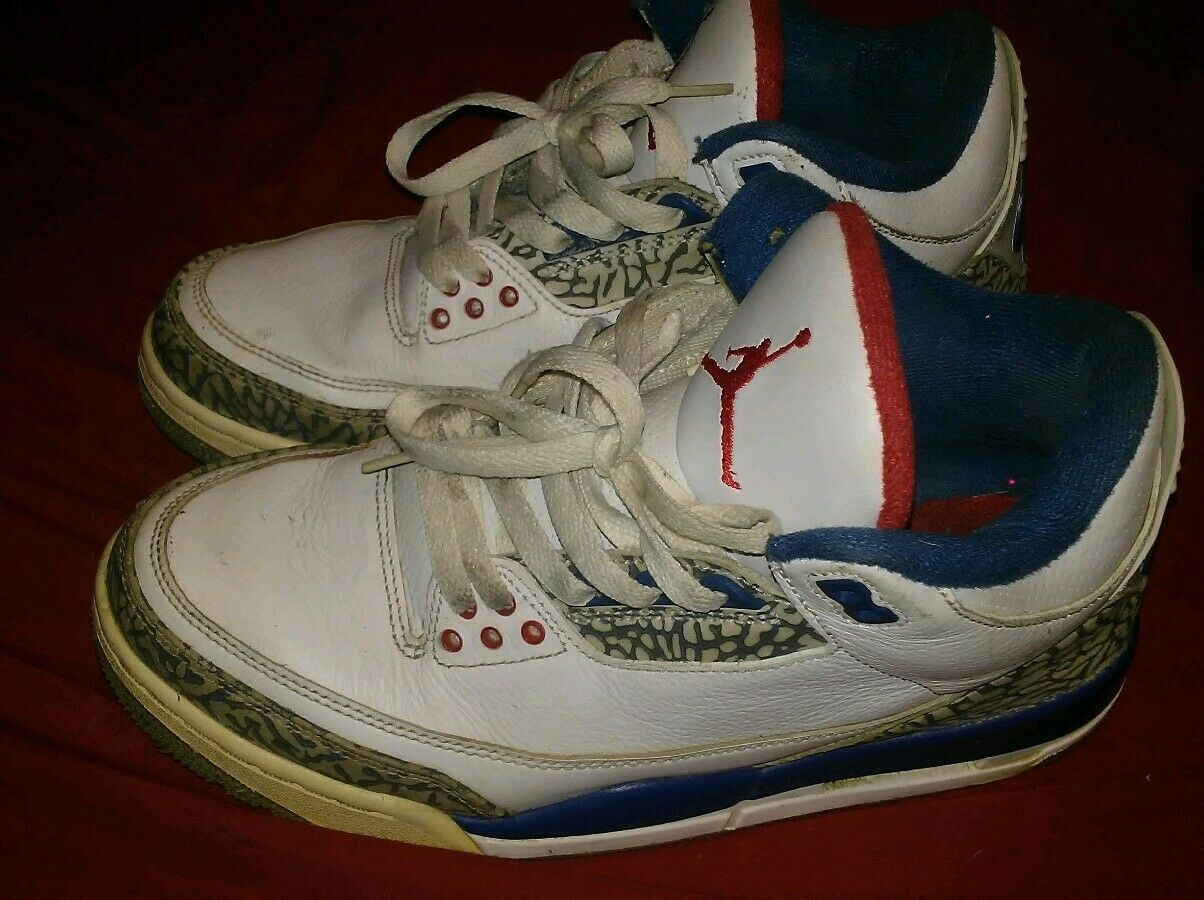 Air Jordan 3 Retro OG 854262106 True bluee mens size 7.5