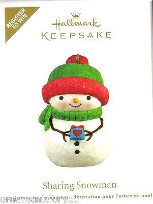 Hallmark 2011 Sharing Snowman Register to Win Ornament