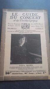 REVUE LE GUIDE DU CONCERT ET DES THEATRES LYRIQUES 1932 N°16 SONYA MICHELL