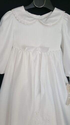 Taufkleid Kleid Taufe Taufbekleidung Mädchen Weiß mit Mütze 2-teilig 3 Lagig NEU