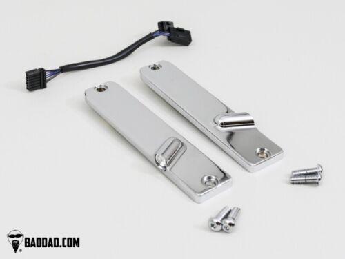 Bad Dad 900 Series Chrome Front LED Billet Turn Signals Harley FLS Softail