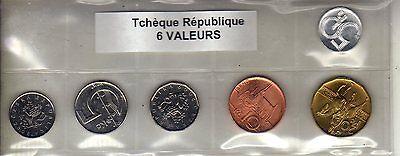 République Tchèque Série De 6 Pièces De Monnaie