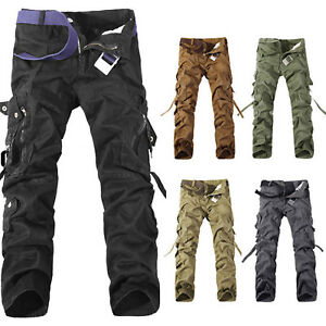 Military-Mens-Cotton-Cargo-Pants-Combat-Camouflage-Camo-Army-Style-Long-Trousers