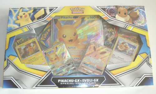Pokemon Box-Pikachu GX /& EVOLI GX COLLECTION-NEUF /& neuf dans sa boîte