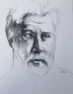 Lysiane-D-COSTE-drawing-on-paper-dessin-sur-papie-etude-portrait-47-60cm-2001