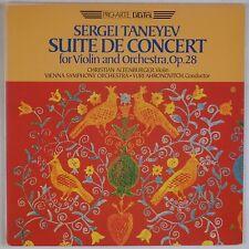 TANEYEV: Suite for Violin ALTENBURGER ProArte Digital LP NM Super