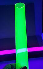 2 Od Diameter 1 34id Clear Green Fluorescent Acrylic Plexiglass 12 Inch Tube