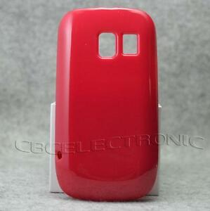 New-Red-Shiny-Jelly-Soft-Rubber-case-back-cover-for-Nokia-Asha-302-3020