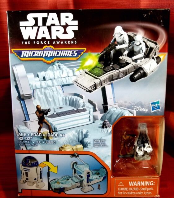 New Disney Hasbro Star Wars The Force Awakens Micro Machines R2-D2 Playset