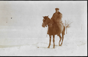 GERMAN-OFFICER-WW1-WINTER-FUR-COAT-CAVALRY-WAR-ANTIQUE-PHOTO-RPPC-POSTCARD