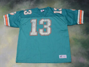 Vintage Logo Athletic NFL Miami Dolphins Dan Marino  13 Jersey Size ... dd68ad155