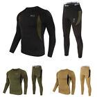 2pcs/Set Men Winter Warm Long Sleeve Thermal Underwear Top Bottom Pants Tactical
