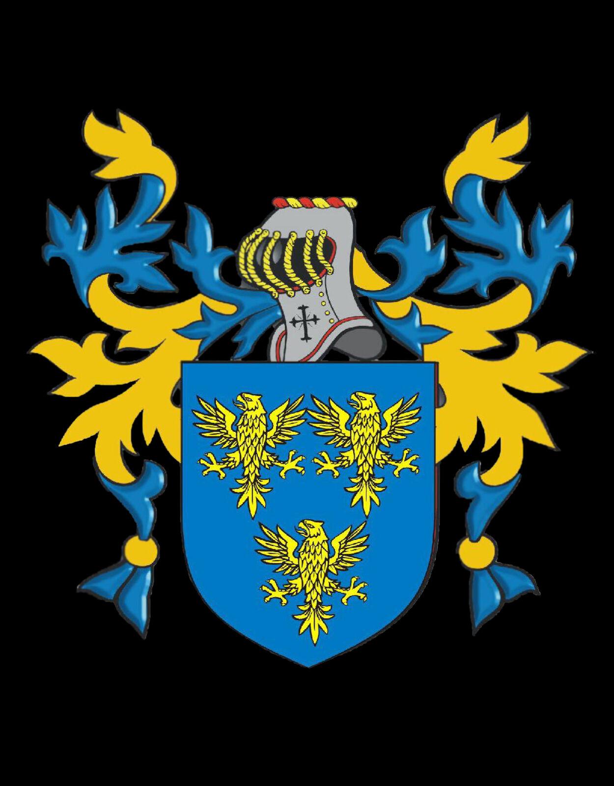 Phillipps Galles Galles Galles Stemma di Famiglia Stemma inciso Gemelli argentoo Sterling Scatola 83dac7