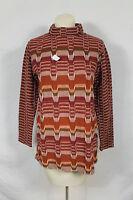 Vintage Jack Winter Burgundy 70s Zig Zag Multi Sweater Hipster Sz L Chevron