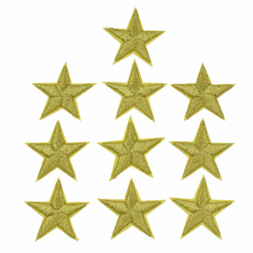 10Pcs Star Embroidery Patches Sew Iron on Applique Clothing Bag Sewing Badge DIY