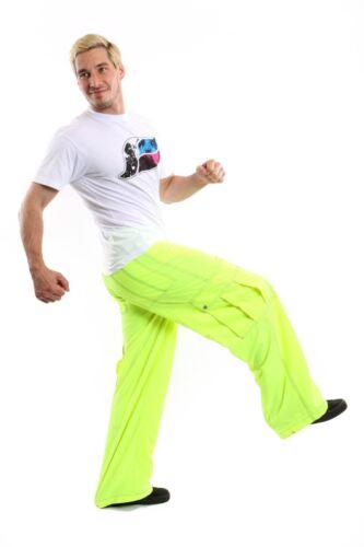 "23/"" Wide Bottoms  Kikwear Neon Yellow Microsuede Pant Unisex"