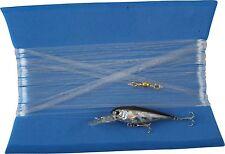 lenza pronta per la pesca traina costiera spigola minnow artificiale nero argent