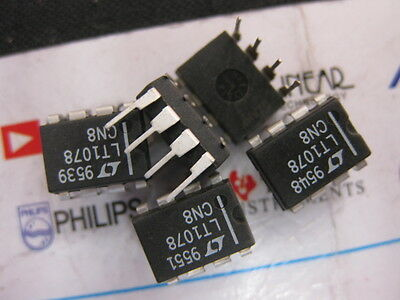 1x LT1078CN8 Micropower Dual Single Supply Precision Op Amps LT1078