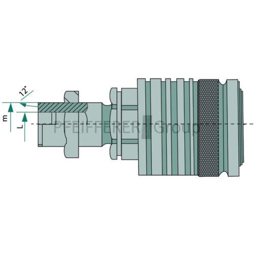 KM-S L S acoplamiento tabique hermético de la manga KM-S 12 L M18x1, 5 DN12-BG3