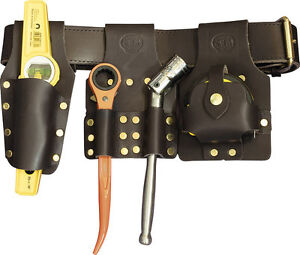 deluxe scaffold tool belt set brown with tools connell
