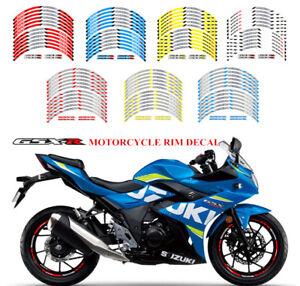 Motorcycle Racing Rim Stripes Wheel Decal Tape Sticker For Suzuki