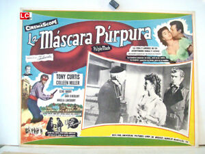 THE-PURPLE-MASK-TONY-CURTIS-1955-OPTIONAL-SET-MEXICAN-LC