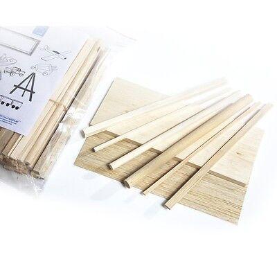 Balsa Wood Blocks DIY Modelling Craft Wood Working Materials 25Pc 5x5x110mm