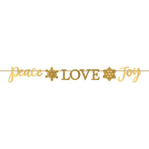 Christmas-Peace-Love-Joy-Gold-Glitter-Banner-Garland-Party-Decoration-3-65-metre