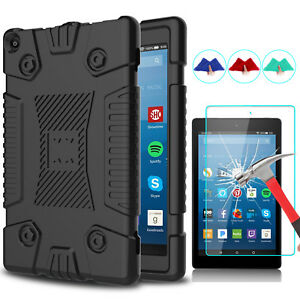 For-Amazon-Kindle-Fire-HD-8-2018-8th-Gen-Shockproof-Armor-Case-Screen-Protector